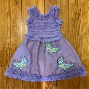 Lemon Loves Lime lavender butterfly Easter dress